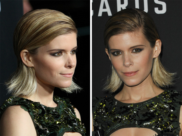 Kate Mara's bobby pin hairstyle