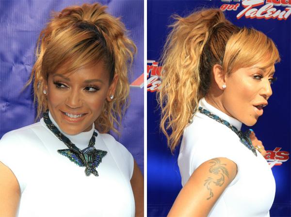 Mel B's ponytail