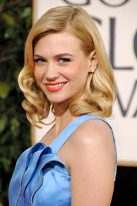 2009 Golden Globes with January Jones