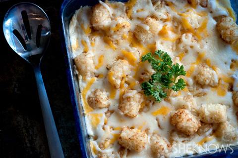 Cheesy chicken and tater tot casserole recipe