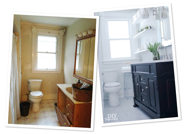 Bathroom makeover by Diy Showoff