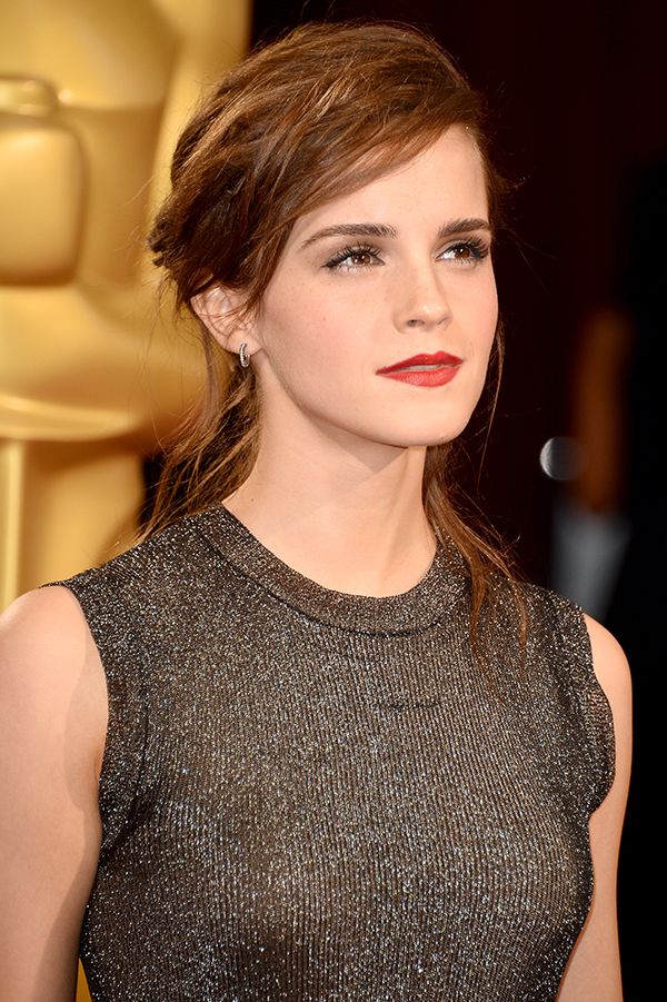 We're obsessed with Emma Watson's hairstyle at the 2014 Academy Awards ... Emma Watson