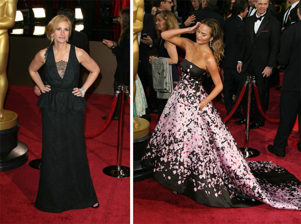 Friday's Fashion Fails: Julia Roberts and Chrissy Teigen at the 2014 Oscars