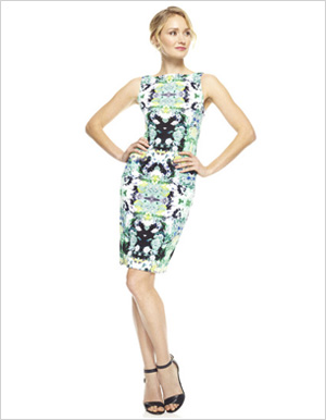 Shop the look: Maggy London Mirror Rose Print Dress (maggylondon.com, $128)