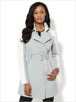 Shop the look: NY & Company NY Trench (Sutton Place Grey) (nyandcompany.com, $59)