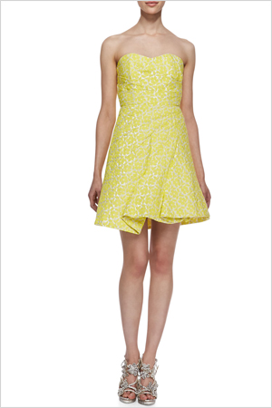 Shop the look: Splurge on Alice + Olivia's Groove Strapless Sculpted Dress (neimanmarcus.com, $495)