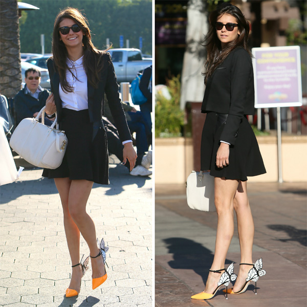 Get the look: Nina Dobrev's business chic outfit
