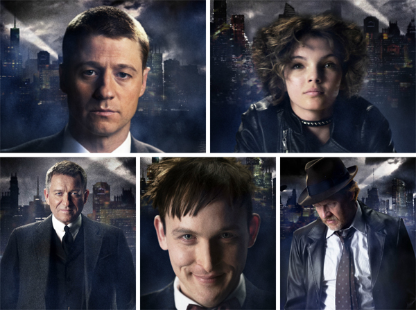 Character-look images for FOX's new show Gotham