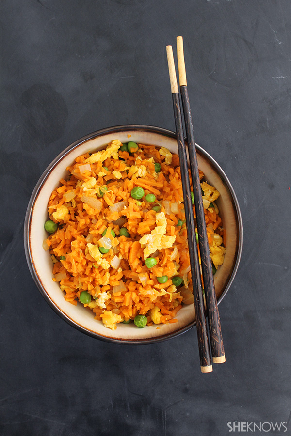 Vegetarian sweet potato fried rice