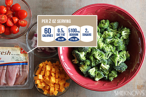 Hearty broccoli salad | Sheknows.com - ingredients