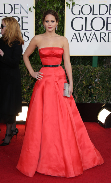 Jennifer Lawrence's 2013 Golden Globes Dress
