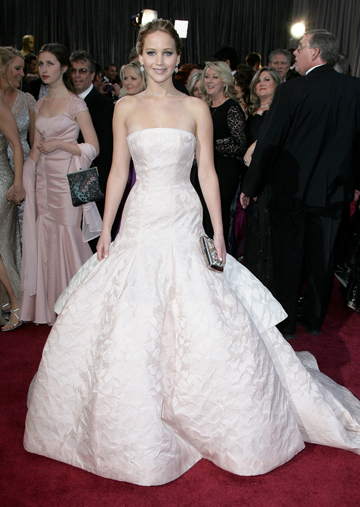 Jennifer Lawrence's 2013 Oscars Gown