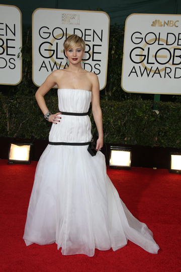Jennifer Lawrence's 2014 Golden Globes Gown