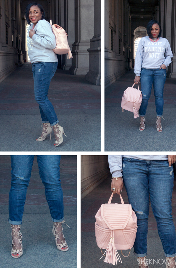 JustFab's spring denim in action