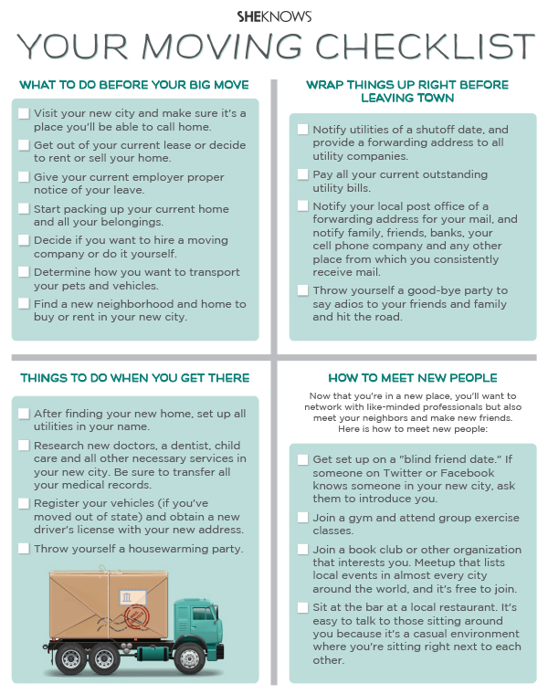 Move like a pro use this checklist for your out of state move for Moving to a new home checklist