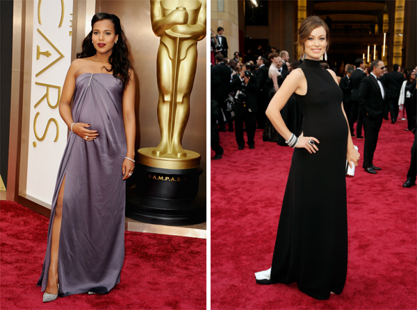 Kerry Washington and Olivia Wilde at the 2014 Oscars