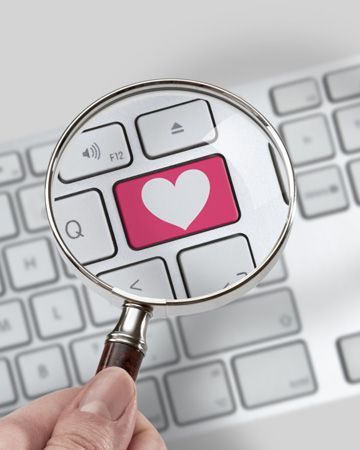 Love button on computer