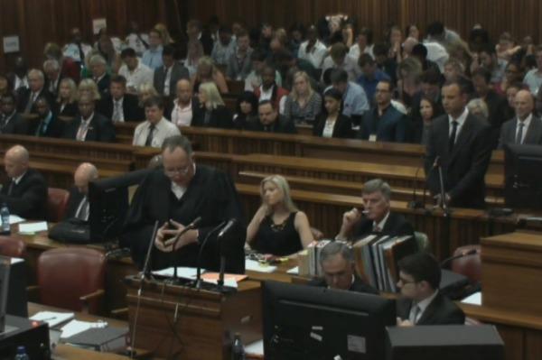 Oscar Pistorius pleads not guilty
