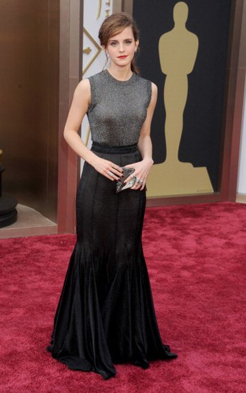 Emma Watson in Vera Wang at the 2014 Oscars