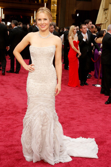 Kristen Bell in Roberto Cavalli at the 2014 Oscars
