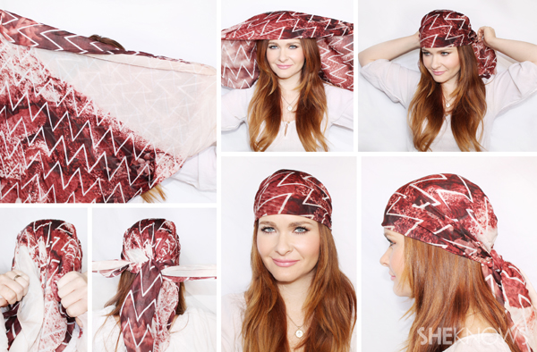 10 Different ways to tie a scarf in your hair | SheKnows.com