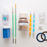 A nail art tool kit for beginners