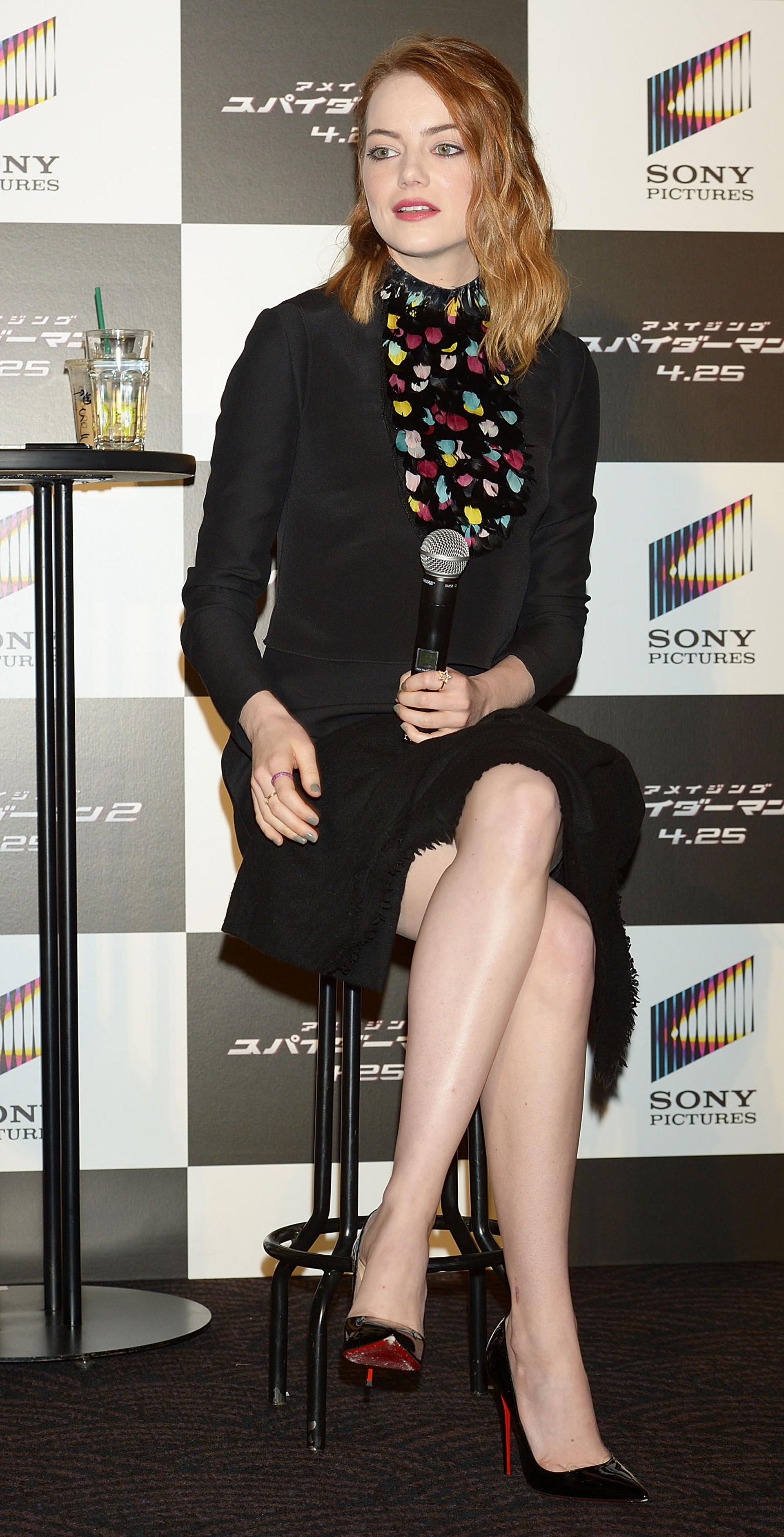 Emma Stone wearing a LBD