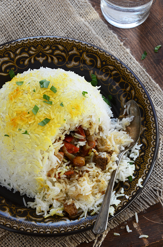 Beef Biryani Stuffed Inside Basmati Rice