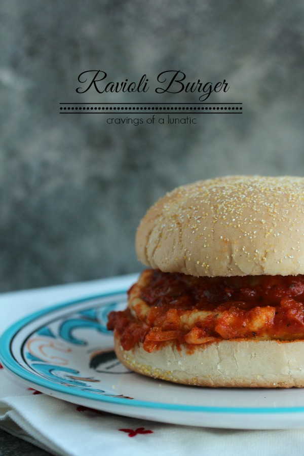 Ravioli burger