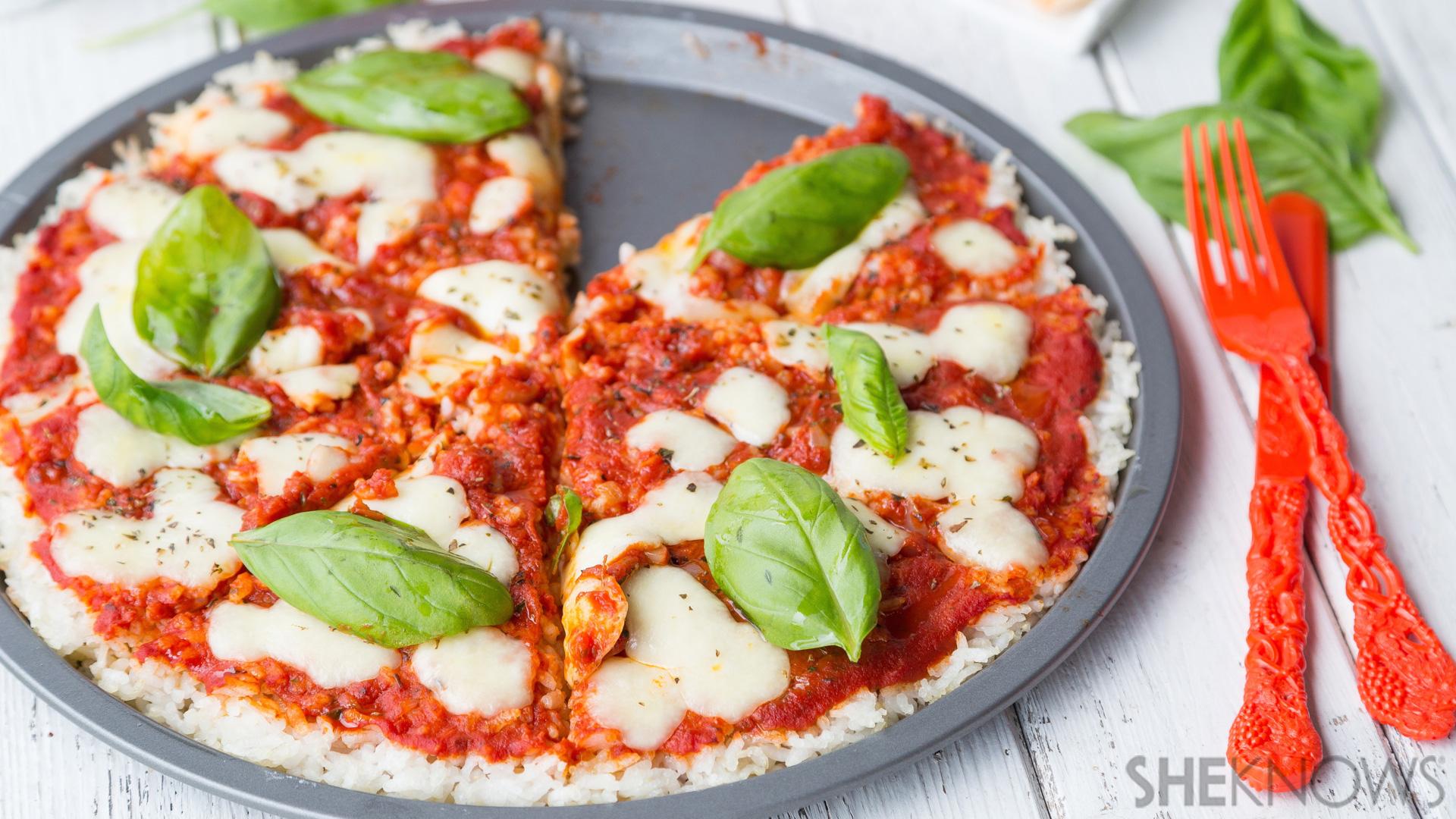 Margherita rice pizza recipe