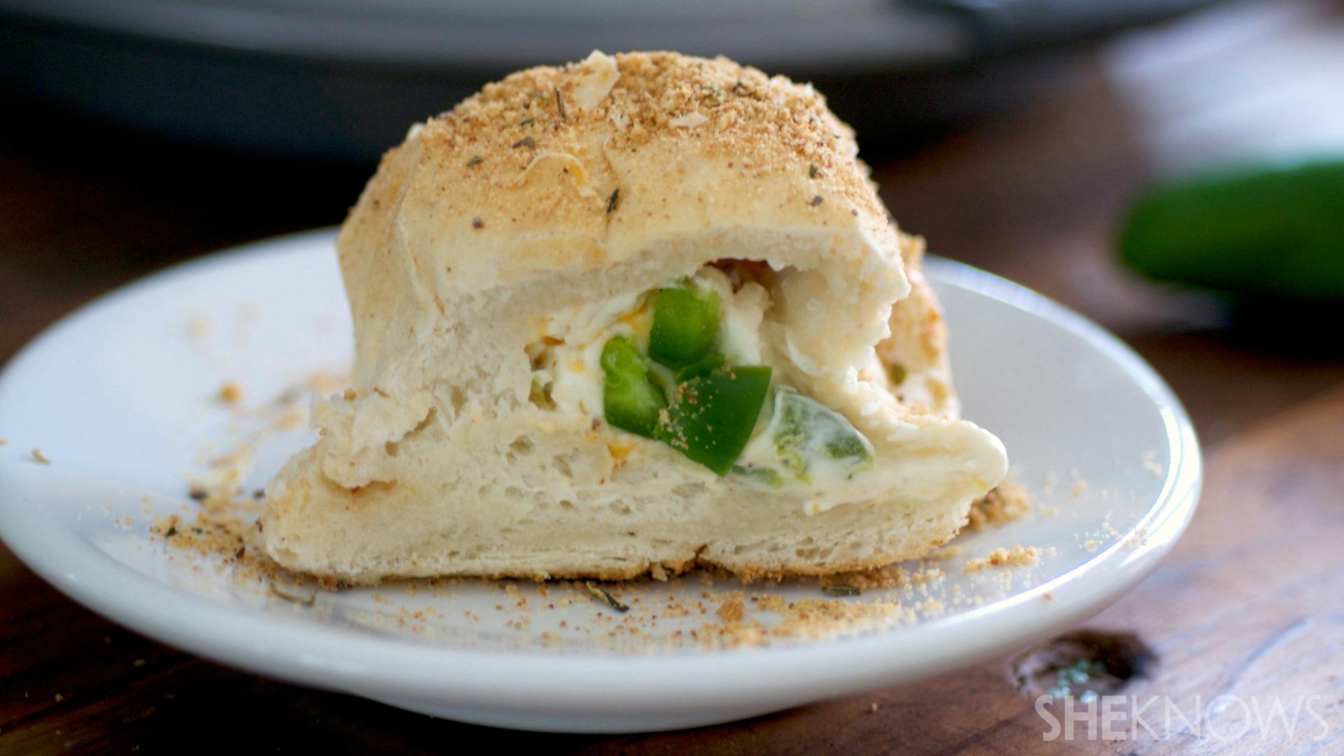 Jalapeño popper stuffed rolls