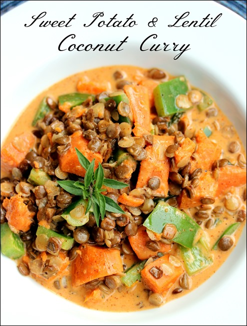 Sweet potato & lentil coconut curry