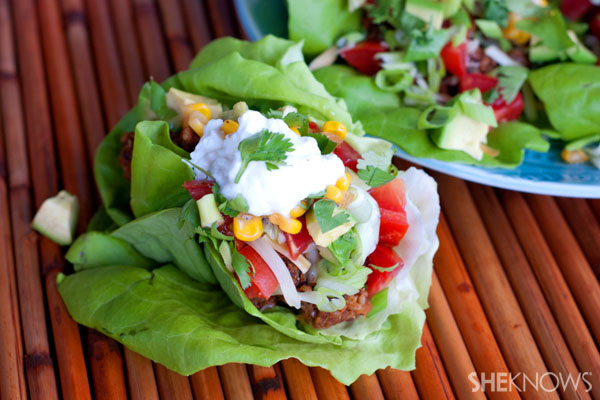 No tortillas needed: Mexican-style vegetarian lettuce wraps