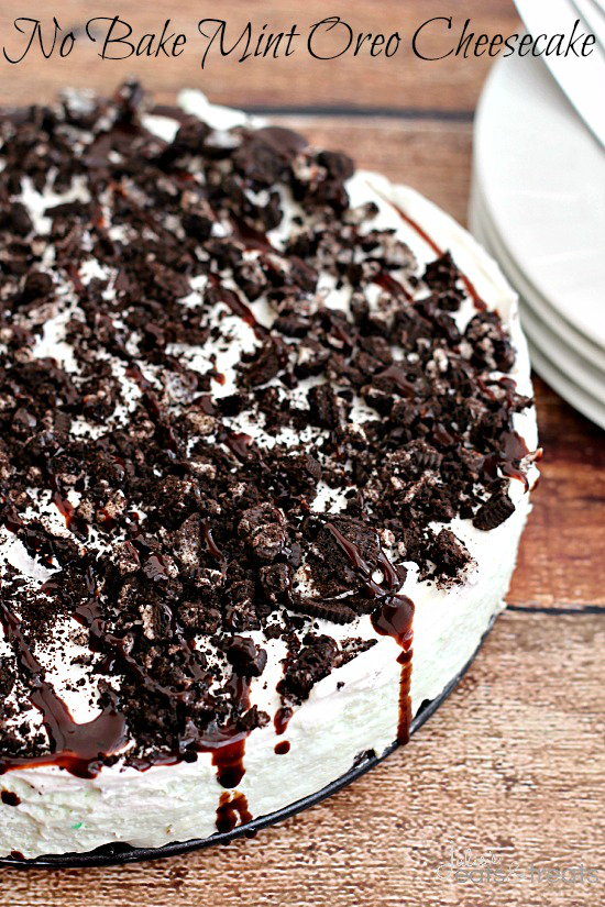 No bake mint Oreo cheesecake