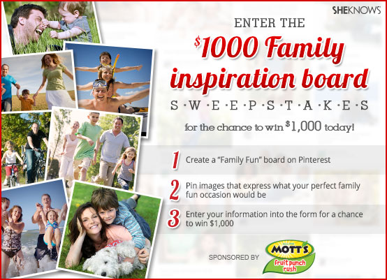Share your family fun dreams with us and win