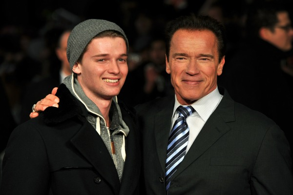 Patrick and Arnold Schwarzenegger