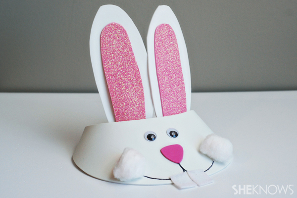 Easter bunny visor craft