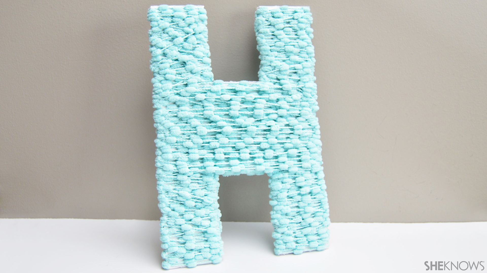 Yarn wrapped letters | Sheknows.com