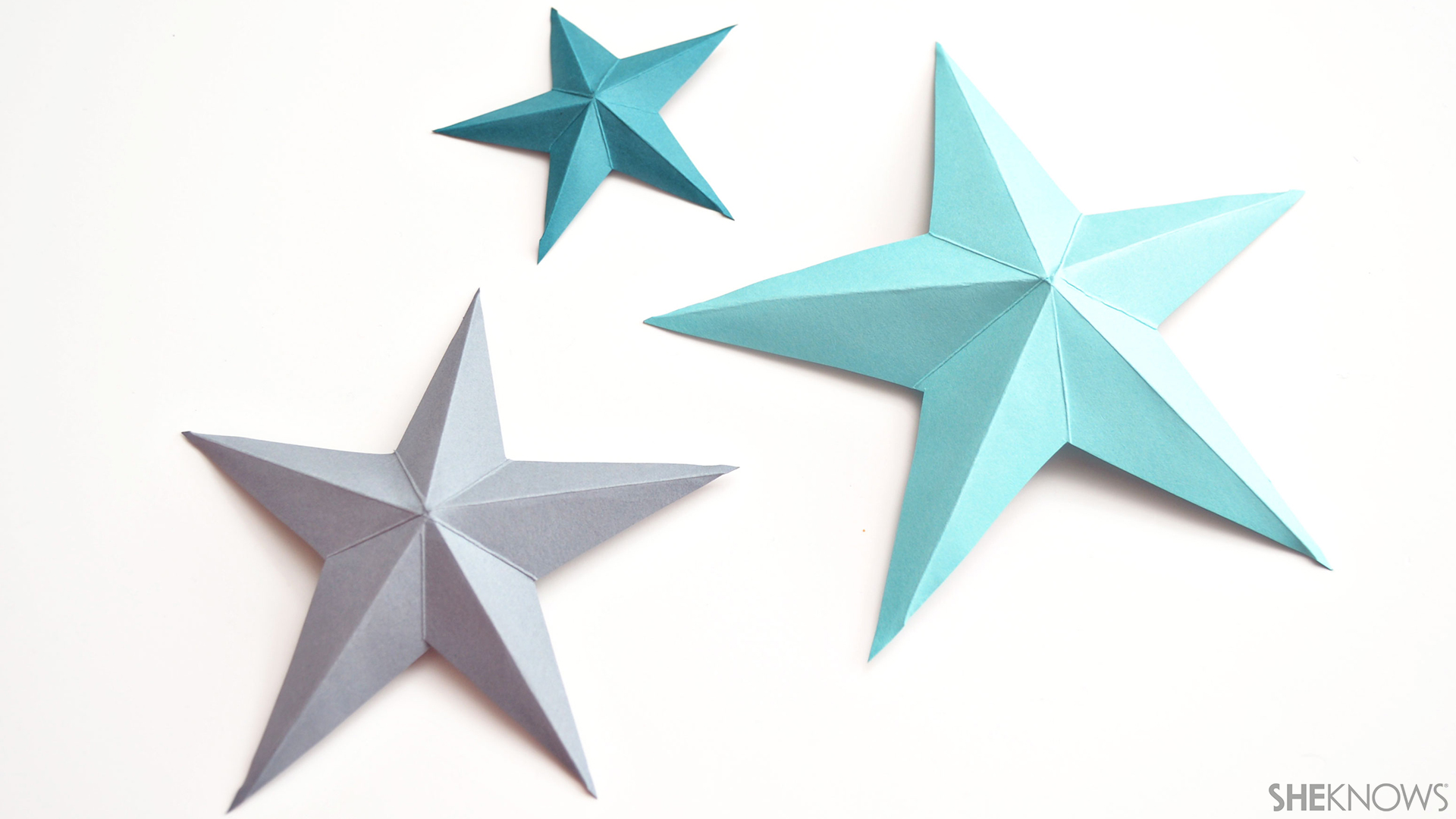 3D paper stars | Sheknows.com