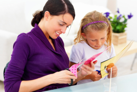 Mother and child making a craft | Sheknows.com