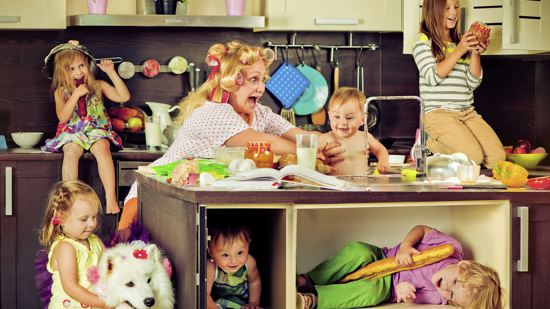 Mother with lots of kids | PregnancyAndBaby.com