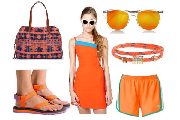 Orange polyvore set | Sheknows.com