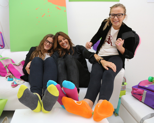 Kelly Bensimon and daughters Sea and Thaddeus