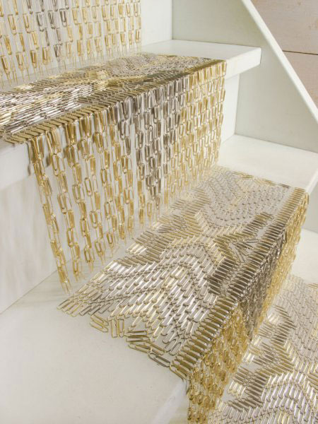 Paper clip carpet