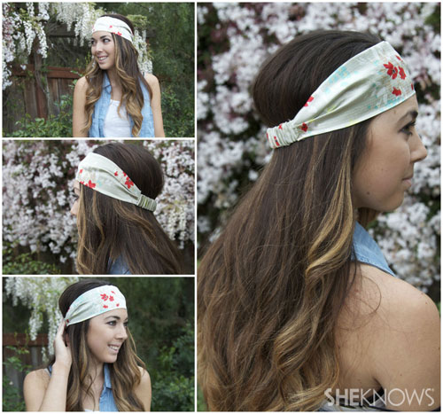 DIY fabric headband: Finished