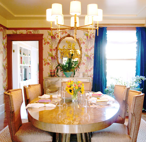 Metallic Dining Room