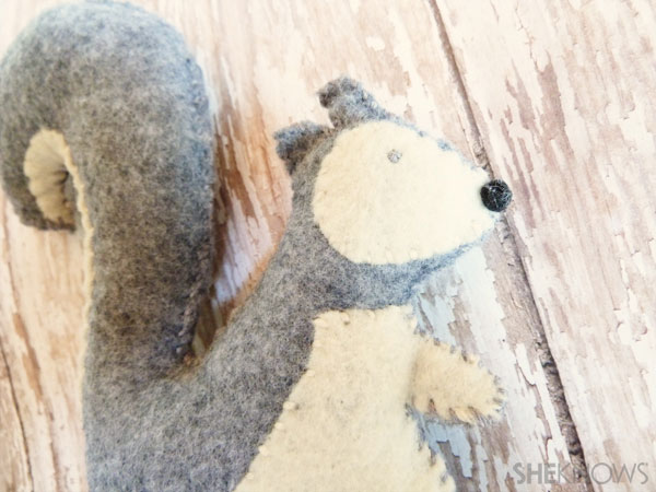 felt squirrels