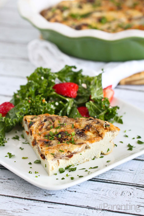allParenting Mushroom & sun-dried tomato crustless quiche