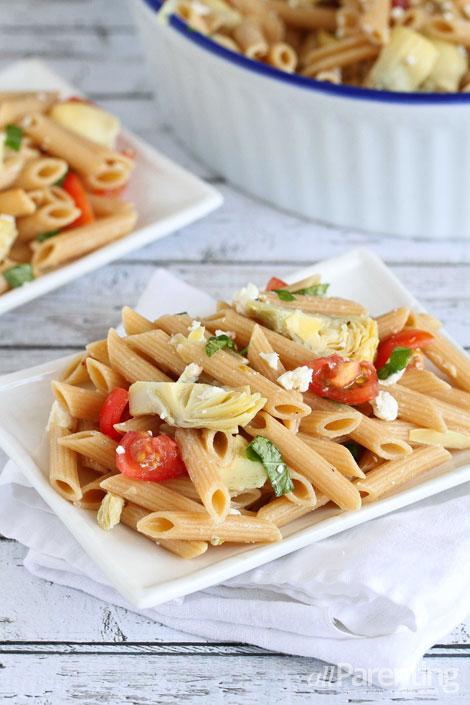 allParenting Tomato & artichoke pasta salad