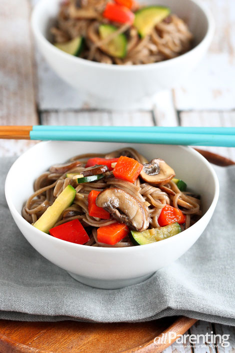 allParenting Vegetable Soba Noodle Salad